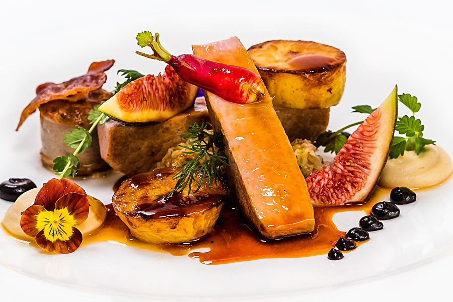 Pork Loin Pomme Fondant Courgette Restaurant dish Canberra
