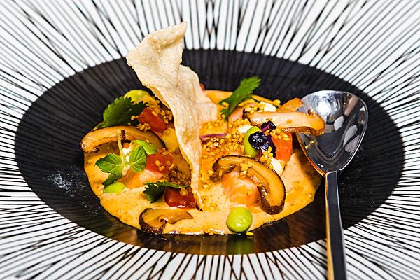Courgette Restaurant dinner menu