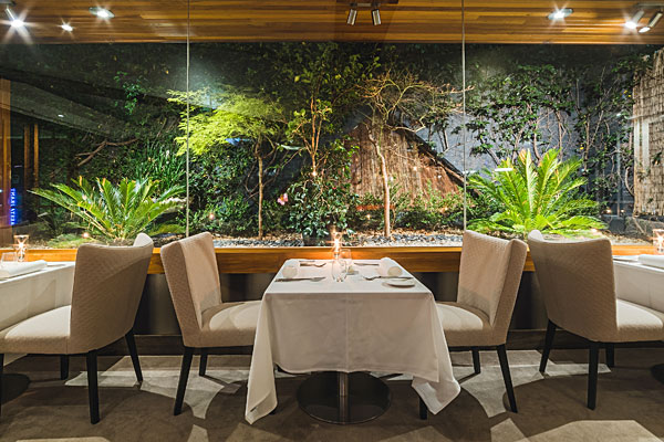Courgette Restaurant garden room